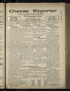 Cheese Reporter, Vol. 54, no. 27, Saturday, March 15, 1930