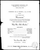 Flyer for Bajo una Sola Bandera by Gonzalo O'Neill, with Erasmo Vando and the Theater Company Renascimiento at the Club Obrero Espanol in New York.