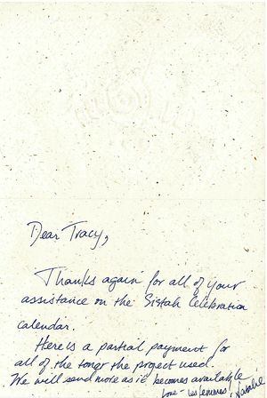 Letter from Jorjet to Tracy Baim, October 22, 1996