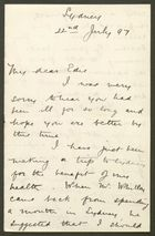 Letter from R.G. Anderson to Edith Thompson, July 22, 1897