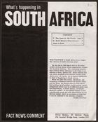 What's Happening In South Africa, N.D. (Pg.Int.Ab.3.I)