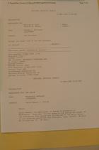 Memo from MacArthur DeShazer re: David Rawson - Rwanda, April 21, 1994