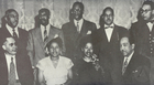 Photo from the 75th Jubilee Anniversary of Jackson State College, Jackson, Mississippi, October 19-24, 1952.  Back row:  Arna Bontemps, Melvin B. Tolson, Jacob Redick, Owen Dodson, Robert Hayden; front row: Sterling Brown, Zora Neale Hurston, Margaret Walker, Langston Hughes