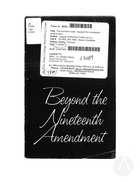 Beyond the Nineteenth Amendment