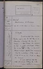 Correspondence Cover Sheet re: B.W.I.R. Repatriation to Panama, July 11, 1919