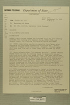 Telegram from U.S. Army Attache to Secretary of State, Sept. 15, 1954