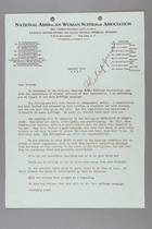 Letter from Carrie Chapman Catt to Officers of NAWSA, January 11, 1937