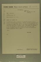 Telegram from William L. Hamilton, Jr. in Jerusalem to Department of State, December 12, 1963