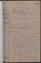 Correspondence Cover Sheet re: Labourers for Panama Canal, March 29, 1897