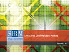 SHRM Poll: 2011 Holiday Parties