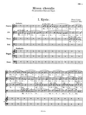 Missa choralis (Organo concinente)