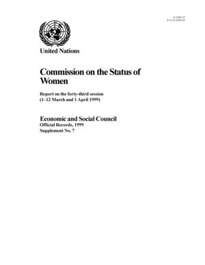 Report on the 43rd Session, New York, 1-12 March and 1 April 1999