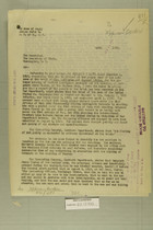 Letter from Newton D. Baker to the Secretary of State, April 24, 1920