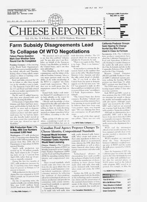Cheese Reporter, Vol. 131, No. 51, Friday, June 22, 2007