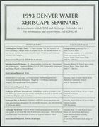 1993 Denver Water Xeriscape Seminars