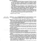 Berlin - U.S. Commitment to its People and Condemnation of the Berlin Wall