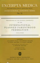 Proceedings of the Seventh Conference of the International Planned Parenthood Federation, Feb. 10-16, 1963, Singapore