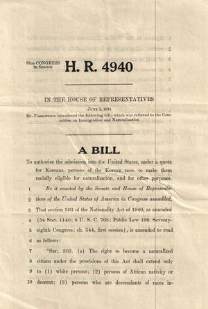 H.R. Res. 4940, 78th Congress, 2nd Session, June 2, 1944