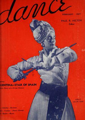 Dance (Magazine), Vol. 1, no. 5, February, 1937, Dance, Vol. 1, no. 5, February, 1937