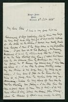 Letter from Robert Anderson to Edith Thompson, October 6, 1885