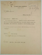 Correspondence re: Removal of Boniface Labat and Family from House No. 347, Gold Hill, for Disorderly Conduct, February 1913
