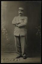 Black & White Photo Postcard of Military Man, Undated