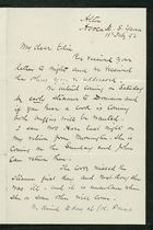 Letter from Robert Anderson to Edith Thompson, February 11, 1892