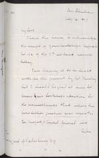 Draft Letter from H. D. Wolff to Marquess of Salisbury re: William Gildea Case,  July 14, 1897