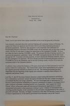 Letter from President Clinton to Daniel Patrick Moynihan re: Rwanda