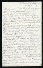 Letter from Anonymous to Samuel Pratt Winter, July 12, 1874