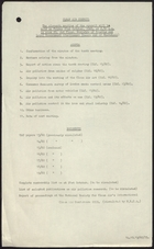 Agenda for 11th Meeting of Clean Air Council; plus Cover Sheet for Report on Consumer Research Survey of Fuel Usage in Smoke Control Areas of London, October 1960