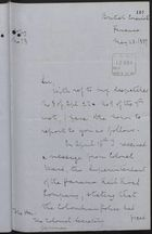 Letter from British Consul Annesly to Colonial Secretary of Jamaica re: Observations at Gorgona on Colombian Police Firing of Unarmed Jamaican Labourers, May 28, 1887