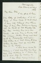 Letter from Robert Anderson to Edith Thompson, August 26, 1889