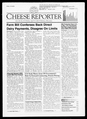 Cheese Reporter, Vol. 126, No. 41, Friday, April 19, 2002
