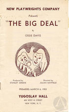 Playbill for The Big Deal by Ossie Davis
