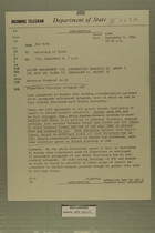 Telegram from Francis T. P. Plimpton in New York to Secretary of State, September 6, 1963