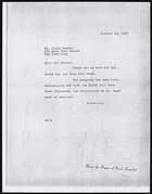 Copy of Letter from Ruth Benedict to Dr. Harry Bakwin, October 30, 1936
