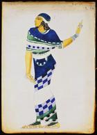 Costume design for a musician (pencil & gouache on paper)