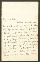 Letter from Mary Anderson to Edith Thompson, undated