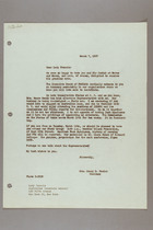 Letter from Helen Fowler to Lady Francis, March 7, 1957