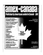 American Expatriate in Canada, Amex-Canada, Vol. 3 no. 6, Whole Number 31, November 1972