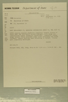 Telegram from John Sabini in Jerusalem to Secretary of State, September 14, 1956