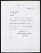 Copy of Letter from Ruth Benedict to Pirie McDonald [MacDonald], January 27, 1943