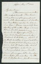 Letter from John Pratt Winter to My dear Bryan, May 1, 1844