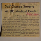 Sex Change Surgery At UC Medical Center