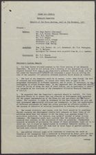 Clean Air Council Research Committee Minutes of the First Meeting, held on 7th November, 1957