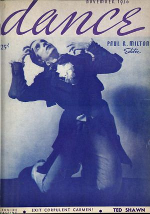 Dance (Magazine), Vol. 1, no. 2, November, 1936, Dance, Vol. 1, no. 2, November, 1936