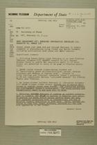 Telegram from Edward B. Lawson in Tel Aviv to Secretary of State, Feb. 15, 1955