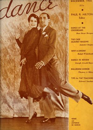 Dance (Magazine), Vol. 1, no. 3, December, 1936, Dance, Vol. 1, no. 3, December, 1936