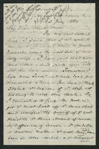 Letter from Samuel Winter Cooke to My Dear Uncle Trevor, July 3, 1884